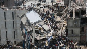 Factory collapses are a recurring problem in Bangladesh, the latest claiming 1,127 lives. Image source.
