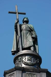Kiev, Ukraine: Vladimir the Great ruler of the Kiev Rus, who Christianized Russia in the year 988. Image source.